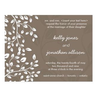 Classy and Elegant Wedding Invitation Postcards