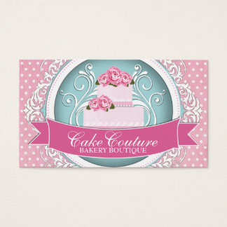 Classy and Modern Cake Designer Business Cards
