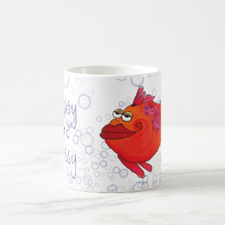 Classy and Sassy Whimsical Fish Artwork Coffee Mug