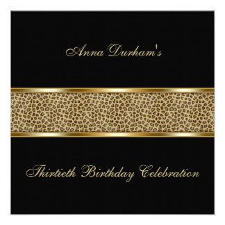 Classy Animal Print Invite Leopard - Black