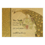 Classy Art Nouveau Vintage Peacock Boutique Card Pack Of Chubby Business Cards