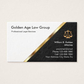 Classy Attorney And Legal Services Business Card