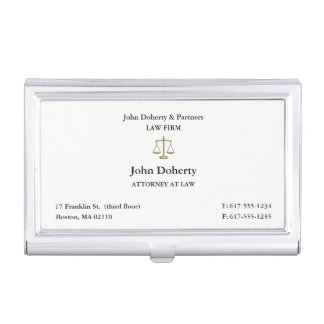 Classy Attorney at Law | Lawyer Business Card Holder