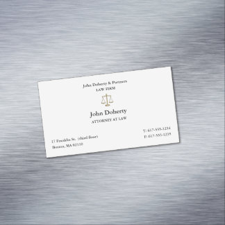 Classy Attorney at Law   Lawyer Magnetic Business Card