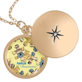 Classy Autism Awareness Necklace