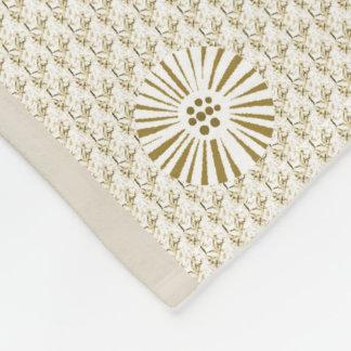 Classy-Beige-Floral-Mod_Fleece-S-M-L Fleece Blanket