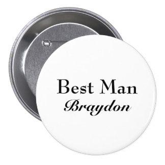 Classy Best Man Button