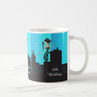 Classy Birthday or Bachelorette Diva Girl Basic White Mug