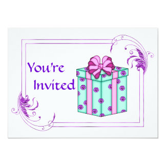 Classy Birthday Party for any age 14 Cm X 19 Cm Invitation Card