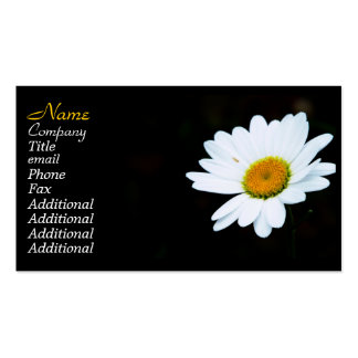 Classy Black And White Daisy Business Cards