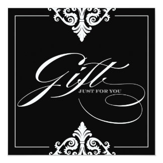 Classy Black and White Gift Certificate Card