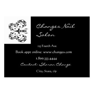 Classy Black Butterfly Nail Salon Business Card