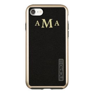 Classy Black Gold Monogram Incipio DualPro Shine iPhone 8/7 Case