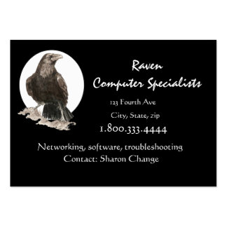 Classy Black Raven Bird Computer Business Card