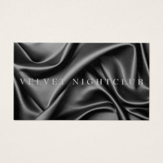 Classy, black, sleek, silk design business card
