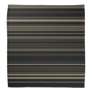 Classy Black Striped Pattern Bandana