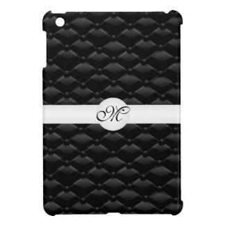Classy Black Tufted Monogrammed IPAD Mini Case