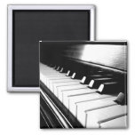 Classy Black & White Piano Photography Magnets