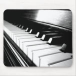 Classy Black & White Piano Photography Mouse Pad
