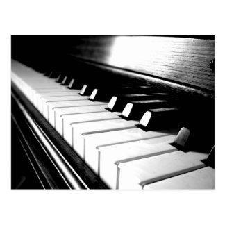 Classy Black White Piano Photography Postcards