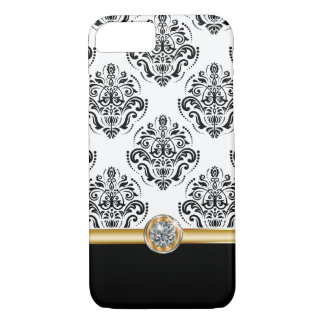 Classy Bling Damask Pattern iPhone 7 Case