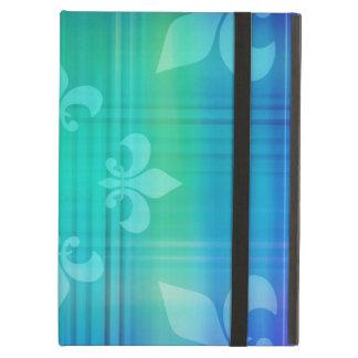 Classy Blue Fleur de Lis iPad Folio Case