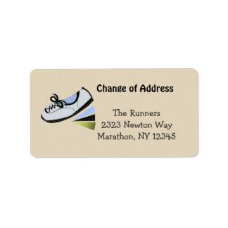 Classy Blue Running Design Label