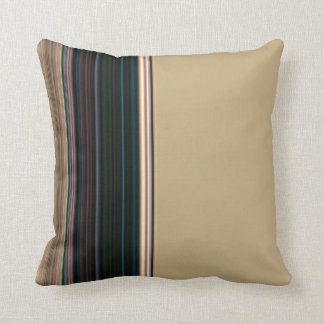 Classy Brown and Green Stripe Cushion