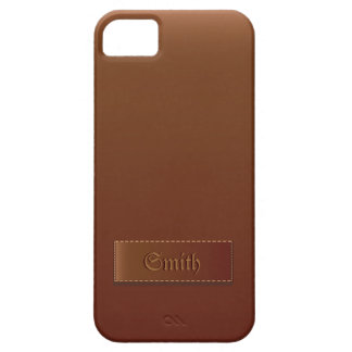 Classy Brown Leather Texture iPhone 5 Case