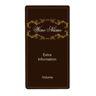 Classy Brown Wine Label