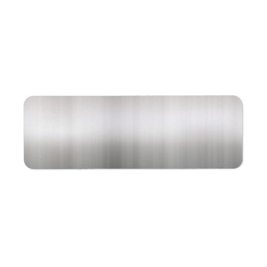 Classy Brushed Aluminium Return Address Label