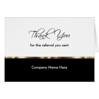Classy Business Referral Thank You Cards