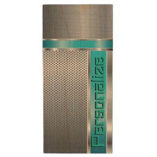 Classy Business Style Designer Print Wood USB 2.0 Flash Drive