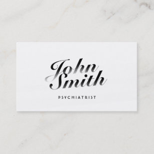 Psychoanalyst business cards zazzle au classy calligraphic psychiatrist business card colourmoves