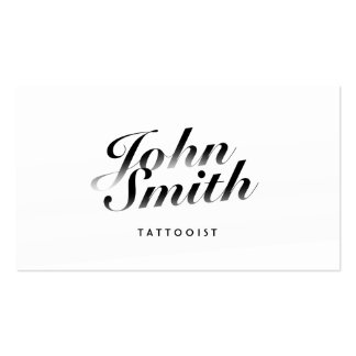 Classy Calligraphic Tattoo Art Business Card