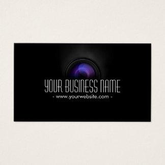 Classy Camera Lens Photographer Business Card