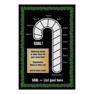Classy Candy Cane Thermometer Poster