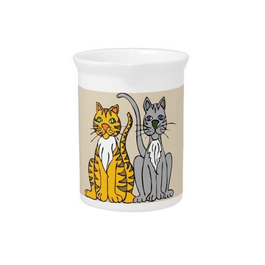 Classy Cats Porcelain Pitcher