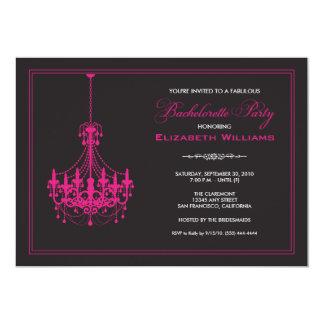 Classy Chandelier Bachelorette Invitation (pink)