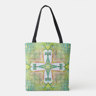 Classy Chic Pastel Cross Modern Pattern Tote Bag