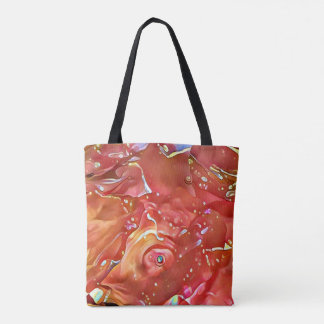 Classy Chic Rose Colored Artistic Abstract Tote Bag