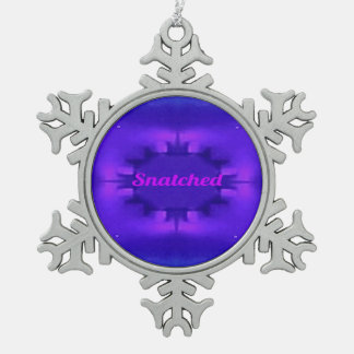 Classy Chic Shades of Purple Pop 'Snatched' Snowflake Pewter Christmas Ornament