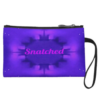 Classy Chic Shades of Purple Pop 'Snatched' Wristlet