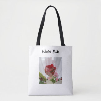 Classy Chic 'Winter Bride' Red Rose Tote