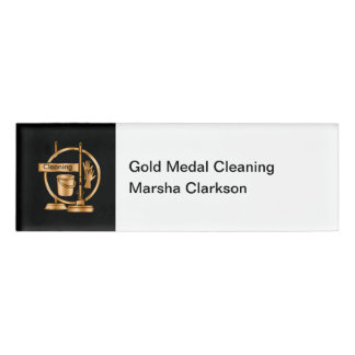 Classy Cleaning Service ID Name Badges Name Tag