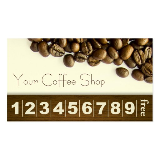 Classy coffee beans coffee business loyalty card business for Coffee business
