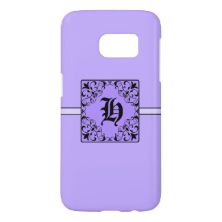 Classy Colorful Monogram H Samsung Galaxy7 Case