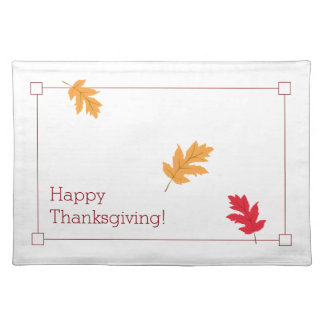 Classy, Colourful, and Festive Thanksgiving Placemat