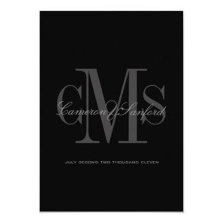 Classy + Contemporary Monogram Wedding Invitations