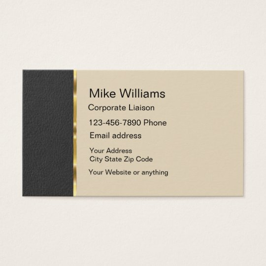 Classy Corporate Liaison Business Card